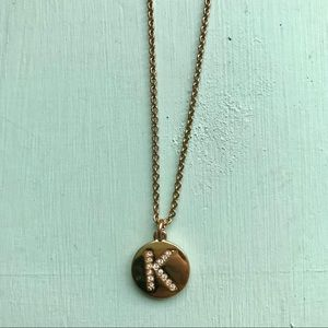 Kate Spade K Initial Round Necklace